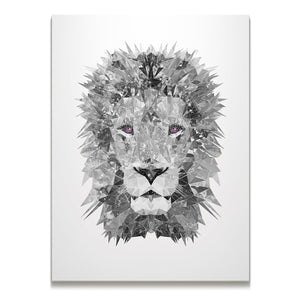 """The Lion"" (B&W) Skinny Canvas Print - Andy Thomas Artworks"