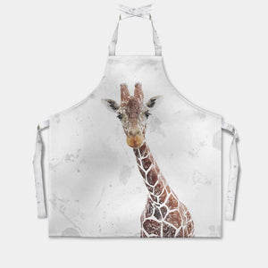 """George"" The Giraffe (Grey Background) Apron - Andy Thomas Artworks"
