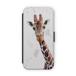 """George"" The Giraffe (Grey Background) Flip Phone Case - Andy Thomas Artworks"