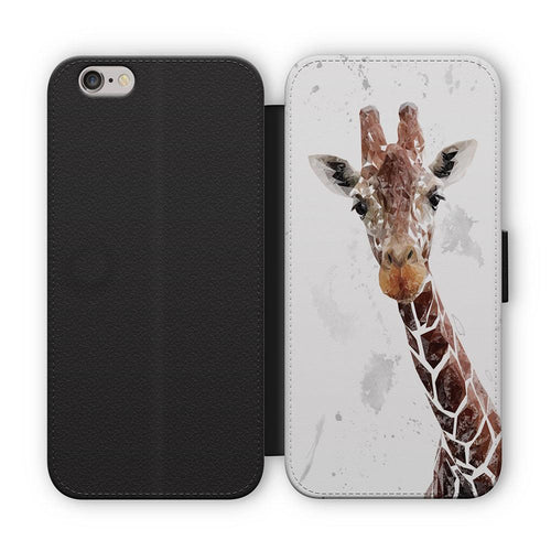 """George"" The Giraffe (Grey Background) Flip Phone Case"