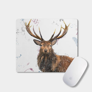 """Rory"" The Stag Mousemat - Andy Thomas Artworks"