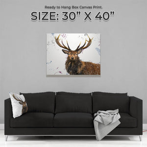"""Rory"" The Stag Large Canvas Print - Andy Thomas Artworks"