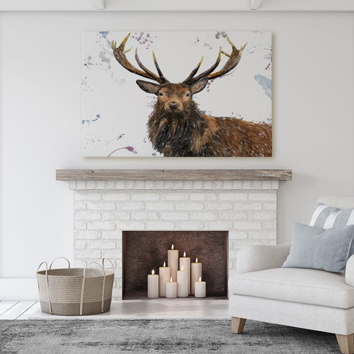 """Rory"" The Stag Massive Canvas Print"