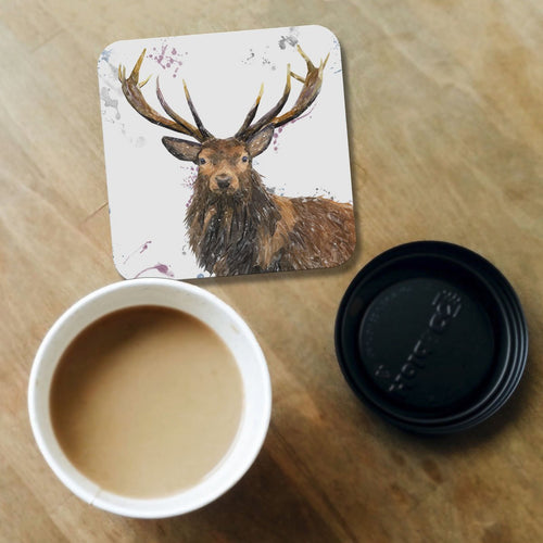 """Rory"" The Stag Coaster"