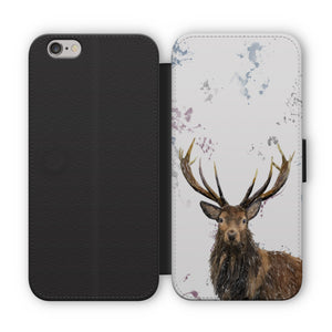 """Rory"" The Stag Flip Phone Case - Andy Thomas Artworks"