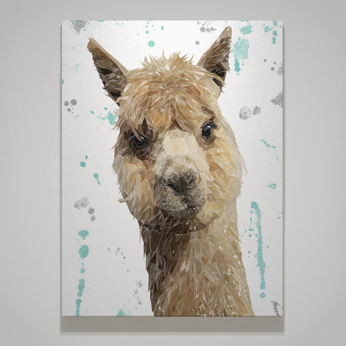 """Alice"" The Alpaca Large Canvas Print"