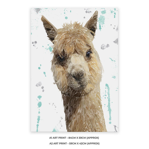 """Alice"" The Alpaca A2 Unframed Art Print"