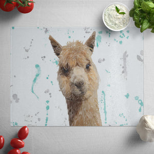 """Alice"" The Alpaca Glass Worktop Saver"