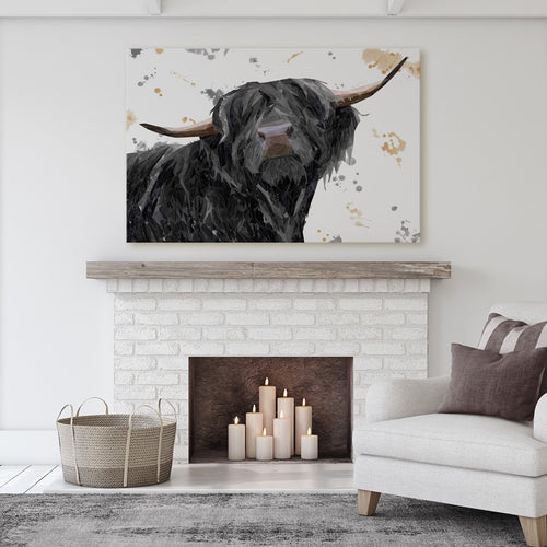 """Barnaby"" The Highland Bull Massive Canvas Print"