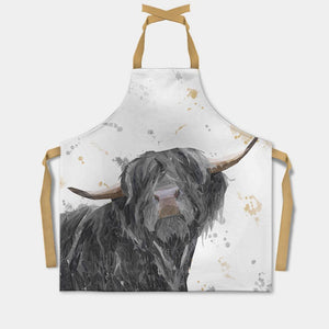 """Barnaby"" The Highland Bull Apron - Andy Thomas Artworks"