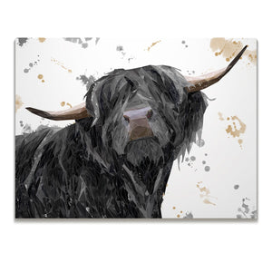"""Barnaby"" The Highland Bull Skinny Canvas Print - Andy Thomas Artworks"