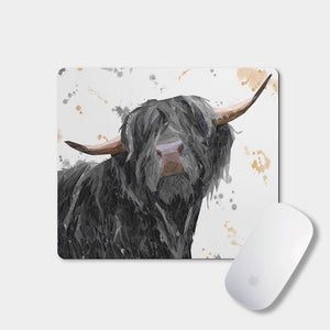 """Barnaby"" The Highland Bull Mousemat - Andy Thomas Artworks"