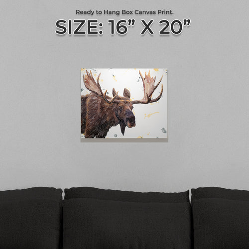 """Maurice"" The Moose Small Canvas Print"
