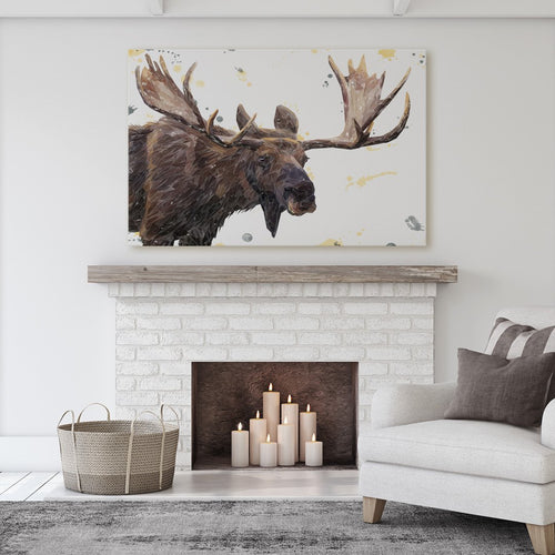 """Maurice"" The Moose Massive Canvas Print"