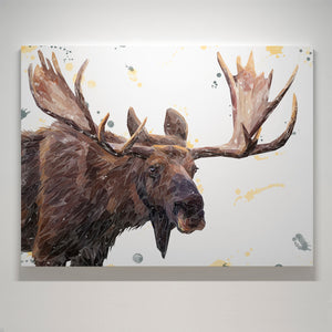 """Maurice"" The Moose Small Canvas Print - Andy Thomas Artworks"