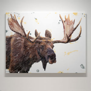 """Maurice"" The Moose Canvas Print - Andy Thomas Artworks"