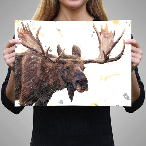 """Maurice"" The Moose A2 Unframed Art Print"