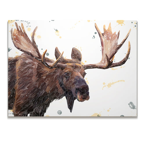 """Maurice"" The Moose Skinny Canvas Print"