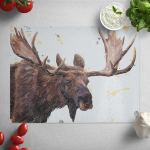 """Maurice"" The Moose Glass Worktop Saver"