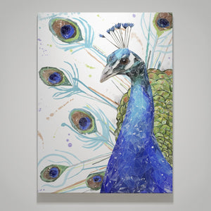 """Percy"" The Peacock Canvas Print - Andy Thomas Artworks"