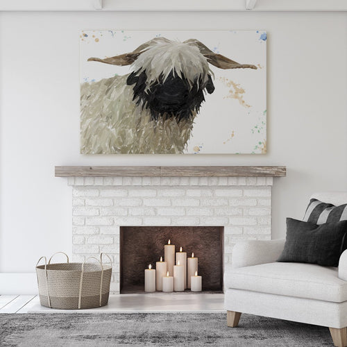 """Bertha"" The Valais Blacknose Sheep Massive Canvas Print"