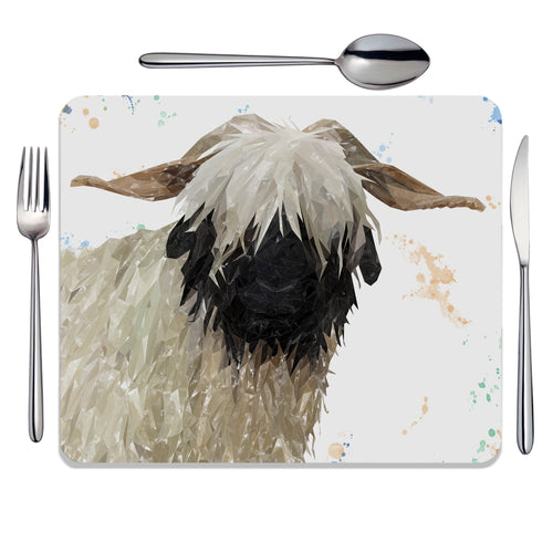 """Bertha"" The Valais Blacknose Sheep Placemat"