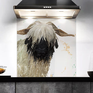 """Bertha"" The Valais Blacknose Sheep Kitchen Splashback"
