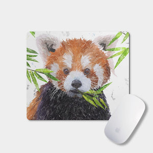 """Red"" The Red Panda Mousemat - Andy Thomas Artworks"
