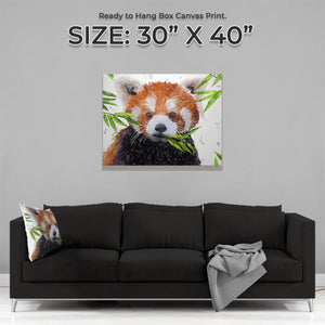 """Red"" The Red Panda Large Canvas Print - Andy Thomas Artworks"