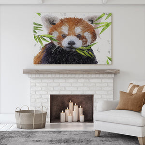 """Red"" The Red Panda Canvas Print - Andy Thomas Artworks"
