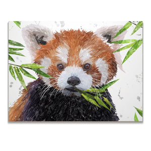 """Red"" The Red Panda Skinny Canvas Print - Andy Thomas Artworks"