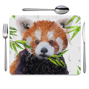 """Red"" The Red Panda Placemat - Andy Thomas Artworks"