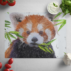 """Red"" The Red Panda Glass Worktop Saver"