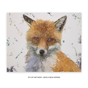 """Rusty"" The Fox 10"" x 8"" Unframed Art Print - Andy Thomas Artworks"