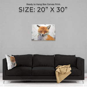 """Rusty"" The Fox Medium Canvas Print - Andy Thomas Artworks"