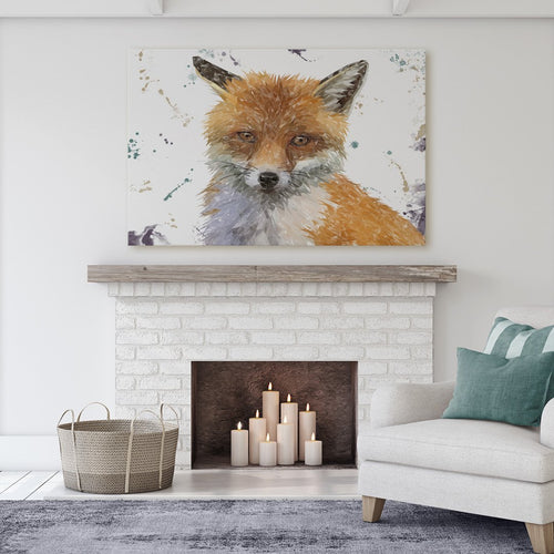 """Rusty"" The Fox Massive Canvas Print"