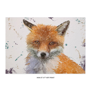 """Rusty"" The Fox 5x7 Mini Print - Andy Thomas Artworks"