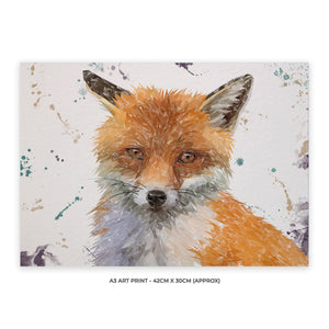 """Rusty"" The Fox A3 Unframed Art Print"