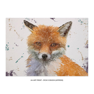 """Rusty"" The Fox A4 Unframed Art Print - Andy Thomas Artworks"