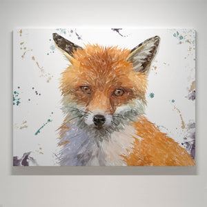 """Rusty"" The Fox Small Canvas Print - Andy Thomas Artworks"