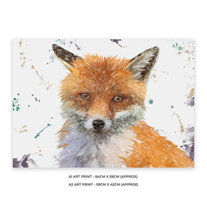 """Rusty"" The Fox A2 Unframed Art Print - Andy Thomas Artworks"