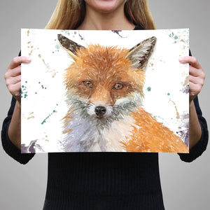 """Rusty"" The Fox A3 Unframed Art Print - Andy Thomas Artworks"