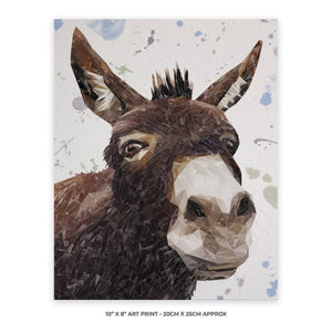 """Conka"" The Donkey 10"" x 8"" Unframed Art Print - Andy Thomas Artworks"