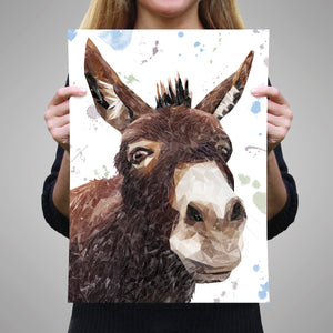"""Conka"" The Donkey A3 Unframed Art Print - Andy Thomas Artworks"