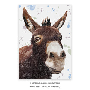 """Conka"" The Donkey A2 Unframed Art Print - Andy Thomas Artworks"