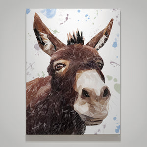 """Conka"" The Donkey Small Canvas Print - Andy Thomas Artworks"