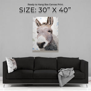 """Daphne"" The Donkey Large Canvas Print - Andy Thomas Artworks"