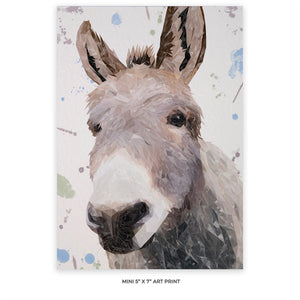 """Daphne"" The Donkey 5x7 Mini Print - Andy Thomas Artworks"