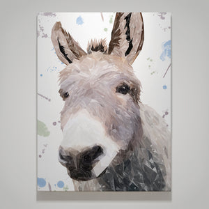 """Daphne"" The Donkey Small Canvas Print - Andy Thomas Artworks"