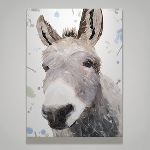"""Daphne"" The Donkey Canvas Print - Andy Thomas Artworks"